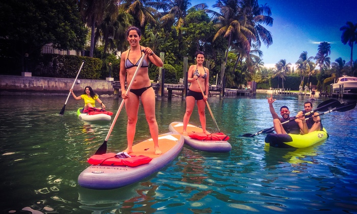 Paddle Board 2 Go Miami  - Wynwood: Three-Hour Paddleboard Rental for One, Two, or Four at Paddle Board 2 Go Miami (Up to 54% Off)
