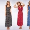 Women's Geometric Print Smocked Waist Maxi Dress