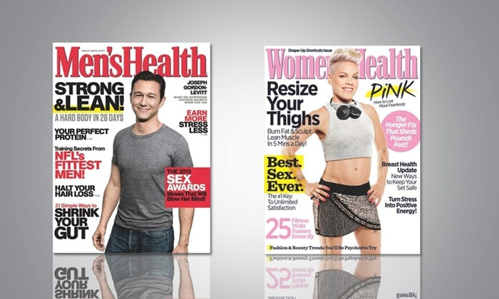 Women's Health or Men's Health Magazine: 1- or 2-Year Subscription to Women's Health or Men's Health Magazine. Free Shipping.