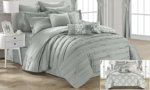 Donnella Reversible Printed Comforter Set with Sheets (24-Piece)