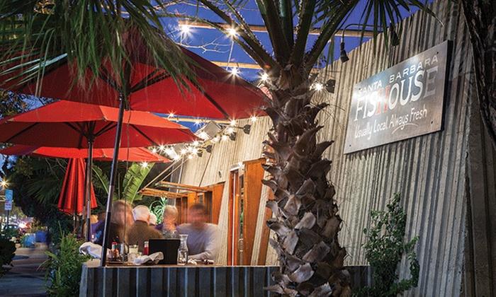 Santa Barbara FisHouse - Water Front: Seafood and Drinks at Santa Barbara FisHouse (Up to40% Off). Two Options Available.