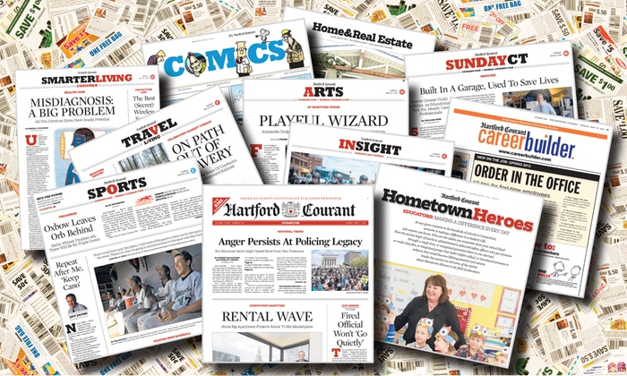 "Hartford Courant: 52-Week Sunday Only or Thursday–Sunday Subscription to the ""Hartford Courant"" (Up to 93% Off)"