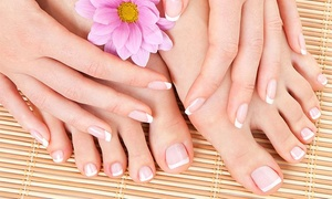 Holiday Nails Salon: A Manicure and Pedicure from Holiday Nails Salon (55% Off)