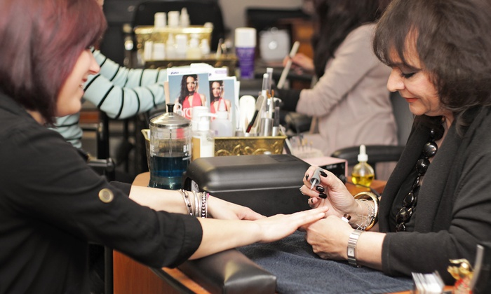 a. Salon Galleria & Spa - Cowesett: One or Two Classic Mani-Pedis or One Shellac Mani-Pedi at a. Salon Galleria & Spa (Up to 50% Off)