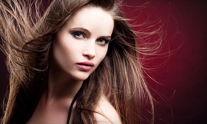 Barnett & Co. Salon - University Plaza: Keratin Treatment with Optional Haircut at Barnett & Co. Salon in Hurst (Up to 74% Off)