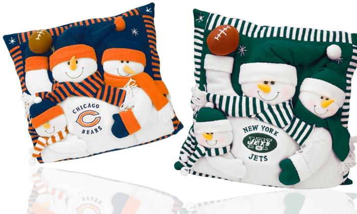 NFL Snowman Family Pillows: NFL Snowman Family Pillow. Multiple Teams Available. Free Returns.