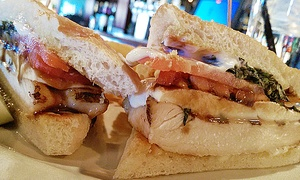 Wixom Station Food & Drink: Casual American Food at Wixom Station Food & Drink (Up to 40% Off). Two Options Available.