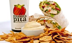 Mama Pita Mediterranean Grill: Mediterranean Food for Two or Four at Mama Pita Mediterranean Grill (47% Off)