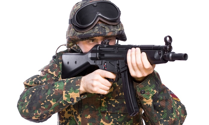 Insight Interactive - Rancho Cucamonga: Airsoft for One, Two, or Four with Equipment Rental at Insight Interactive (Up to 64% Off)