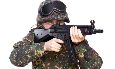 Airsoft for One, Two, or Four with Equipment Rental at Insight Interactive (Up to 66% Off)