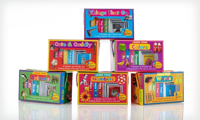 Children's Building-Blocks and Book Six-Pack: $30.99 for a Children's Building-Blocks and Book Set ($89.70 List Price)