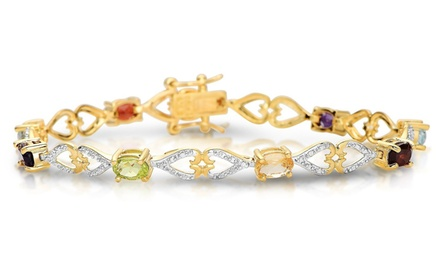6.28 CTTW Diamond Bracelet in Sterling Silver with Gold Plating