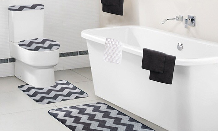 bath set with towels 9pcs groupon goods. Black Bedroom Furniture Sets. Home Design Ideas
