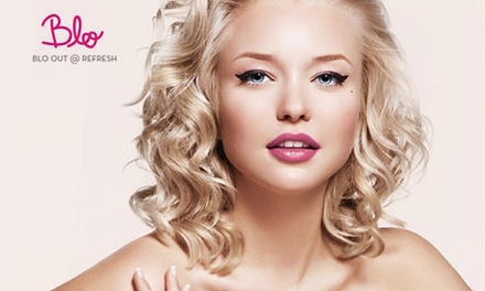 Cut, Blow-Dry and L'Anza Conditioning Treatment with Beverages and sweet treats at Blo Out & Refresh (51% Off)