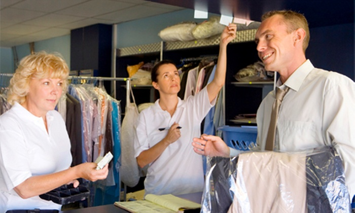 Big Z Cleaners, Twin City Dry Cleaners, & Squeeky's Cleaners & Laundromat - Multiple Locations: Dry-Cleaning and Laundry Services (Up to Half Off). Two Options Available.