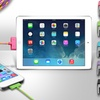Aduro 10 Ft. Fiber Cloth Pattern USB to 30 Pin Cable