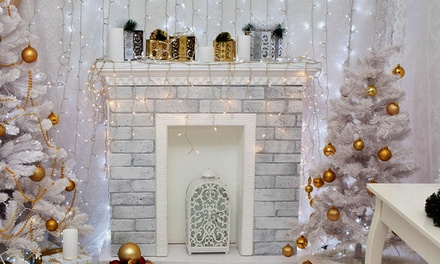 From $39 for Christmas Curtain Lights: 300 LED 3m x 3m ($39), 300 LED 6m x 3m ($49) or 600 LED 6m x 3m ($59)