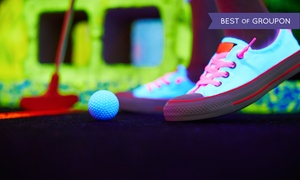 Glowgolf: Glow Mini Golf for Two, Four, or Six, or Glow Mini Golf and Laser Maze for Two at Glowgolf (Up to 55% Off)