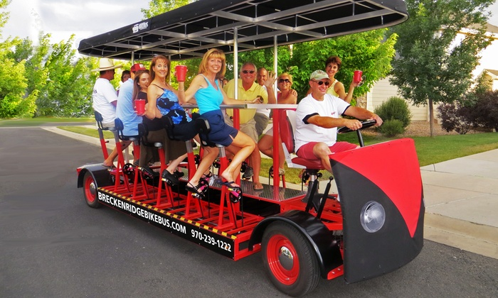 Breckenridge Bikebus - Breckenridge: Two-Hour Pub Crawl on Pedal-Powered Party Bus from Breckenridge Bikebus (Up to 53% Off). Four Options Available.