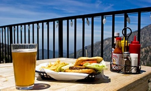 Mt Baldy Ski Lifts: Scenic Lift Ride and Lunch, Breakfast, or Dinner for Two, Three, or Four at Mt Baldy Ski Lifts (Up to 56% Off)