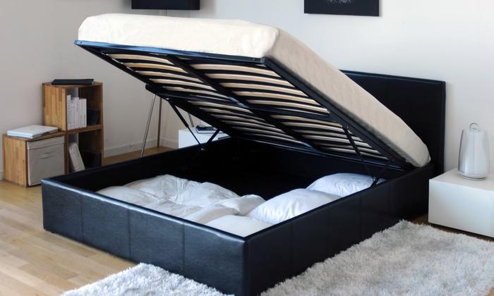 lit coffre et sommier groupon shopping. Black Bedroom Furniture Sets. Home Design Ideas