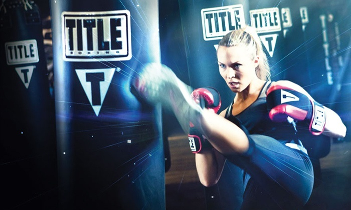Title Boxing Club - Multiple Locations: Two Weeks or One Month of Unlimited Boxing or Kickboxing Classes at Title Boxing Club (Up to 73% Off)
