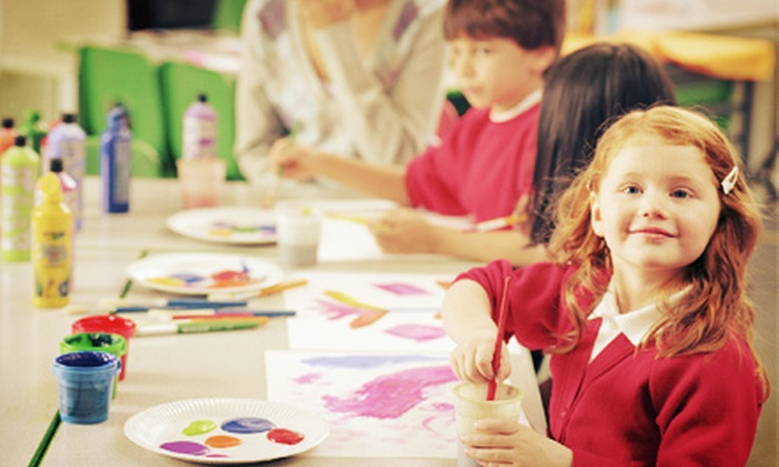 Paint and Pour - Studio West: One or Nine Weeks of Creativity Camp at Paint and Pour (Up to 51% Off). Four Options Available.