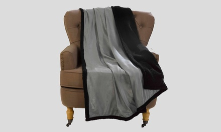 Two Metallic Sherpa Fleece Throws for £17.99