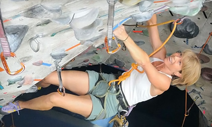 Rockreation - Costa Mesa: $59 for an Introductory Rock-Climbing Package with One-Month Climbing Membership at Rockreation ($189 Value)