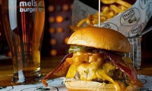 Mel's Burger Bar: Burgers and Beer for Two or Four at Mel's Burger Bar (Up to 51% Off)