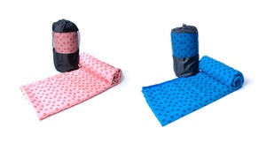 Non-Skid Yoga Towel with Carrying Bag