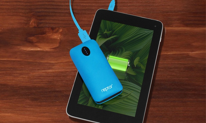 Neptor 5,600mAh Dual-Port Portable USB Battery Charger: Neptor 5,600mAh Dual-Port Portable Battery Charger for Smartphones, Tablets, and Other USB-Powered Mobile Devices