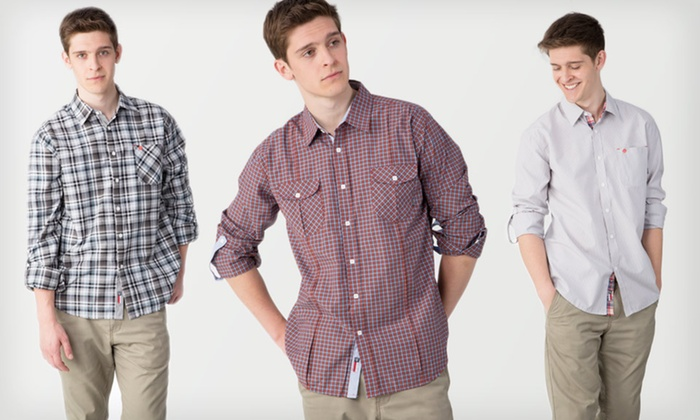 Men's 191 Unlimited Slim-Fit Shirts: $27.99 for a Men's 191 Unlimited Slim-Fit Shirt ($69 List Price). Multiple Options Available. Free Shipping and Returns.