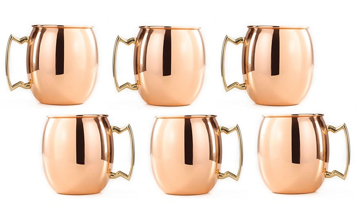 Old Dutch Set of 6 Copper Moscow Mule Shot Mugs: Old Dutch Set of 6 Copper Moscow Mule Shot Mugs. Free Returns.
