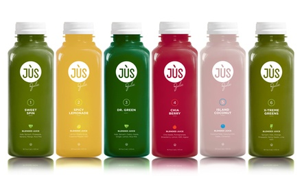 Three- or Five-Day Juice Cleanse with Option for 12 Booster Shots from Jus by Julie ( 50% Off )
