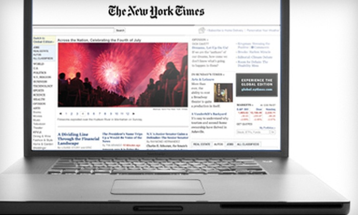 """""""The New York Times"""": $1 for an Eight-Week Digital Subscription to """"The New York Times"""" ($15.99 Value)"""
