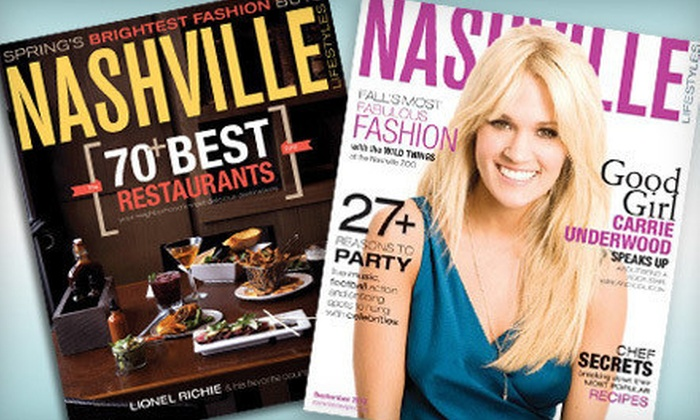 "Nashville Lifestyles: One- or Two-Year Subscription to ""Nashville Lifestyles"" Magazine (Up to Half Off)"