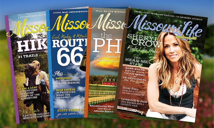 """Missouri Life"": $10 for a One-Year Subscription to ""Missouri Life"" ($19.99 Value)$19.99"