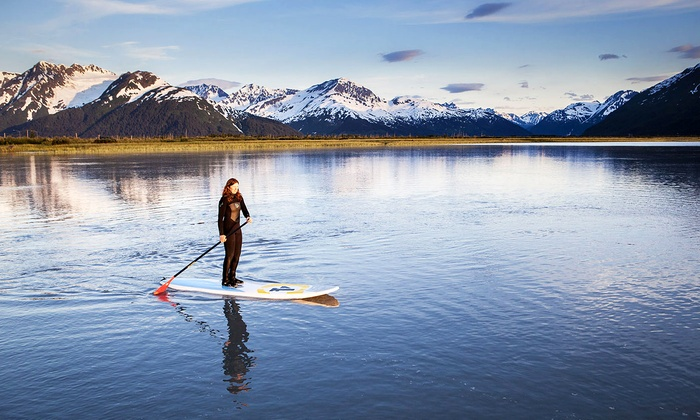 Stand Up Alaska - Newcomb Park / Wasilla Lake: $65 for a Two-Hour Standup Paddleboard (SUP) Lesson for Two at Stand Up Alaska ($130 Value)