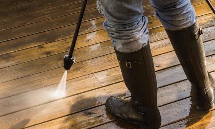 EASY PRESSURE CLEANING - Palm Beach: Sidewalk or Concrete Pressure Washing from EASY PRESSURE CLEANING (55% Off)