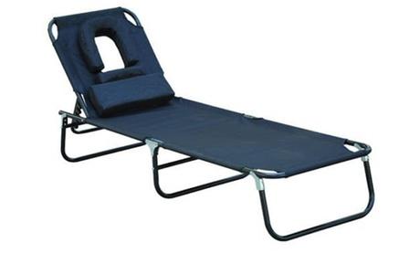 Tumbona reclinable de acero