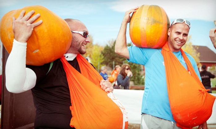 The Great Pumpkin Haul - Chatfield Bluffs: $22 for Entry to a 2-Mile Autumn Obstacle Course Race on October 26 from The Great Pumpkin Haul ($45 Value)