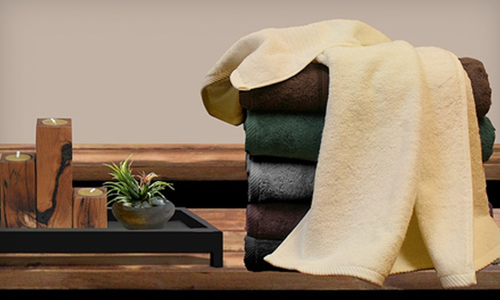$34 for a Spa Collection Six-Piece Egyptian-Cotton Towel Set ($79 Value). 6 Colors Available. Shipping Included.