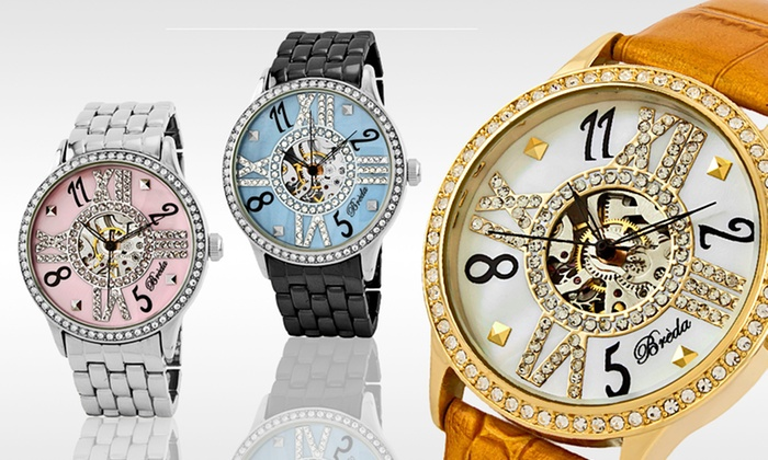 Breda Women's Wind-Up Watches: $28 for a Breda Women's Audrey Wind-Up Watch ($72 List Price). 13 Styles Available. Free Shipping and Free Returns.
