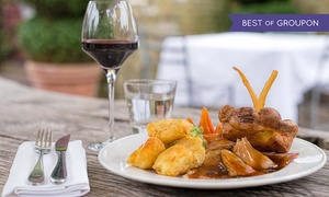 The Crazy Bear Group: Three-Course Sunday Lunch with Champagne at The Crazy Bear £24.95 (50% Off)