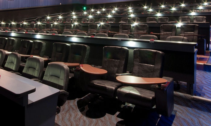 Studio Movie Grill is a restaurant and a movie theater all in one. Two styles of seating to choose from, desk with office style chairs or leather chairs with swivel tables. Both are quite comfortable. Each chair has push button to call for service/5().