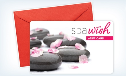 groupon daily deal - One or Two $50 Spa or Salon eGift Cards from SpaWish (Up to 30% Off)