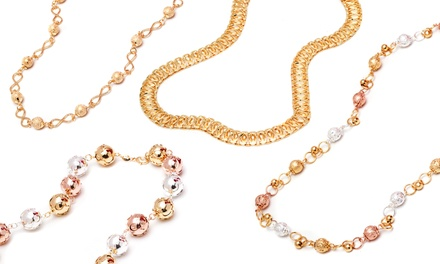 18K Gold or Rose Gold Chain Necklaces