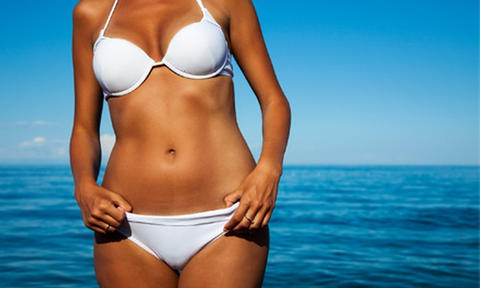 Tanlines - Multiple Locations: One or Three Custom Airbrush Spray Tans, or One Month of Unlimited Level 1 Tanning at Tanlines (Up to 55% Off)