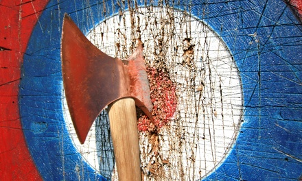 One-Hour Axe Throwing Session for One, Two, or Four at Lazertag Axtreme (Up to 25% Off)